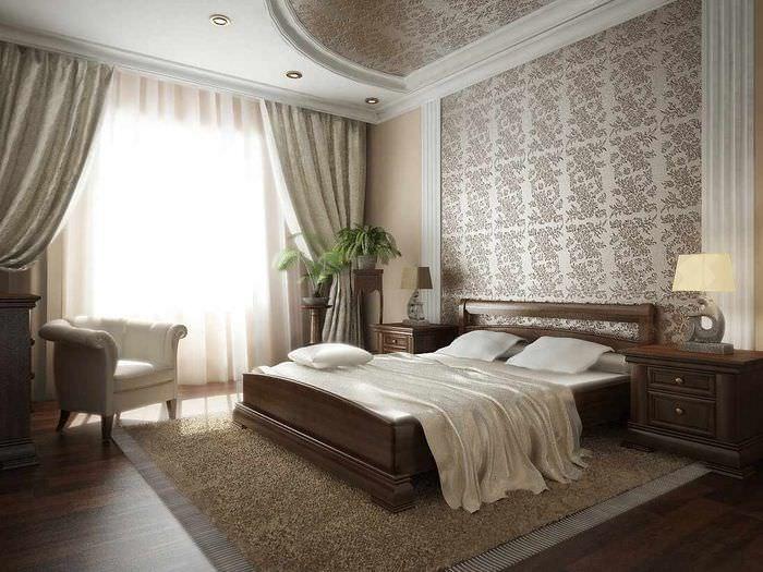 пример светлого проекта дизайна спальни