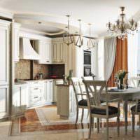 пример красивого проекта стиля кухни фото