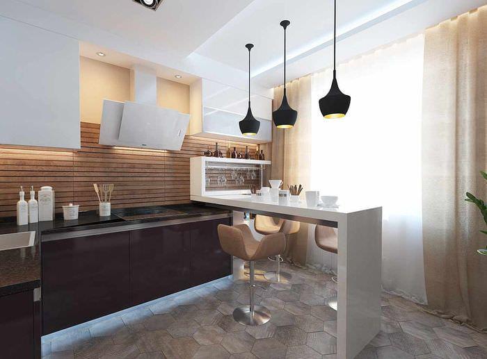 пример яркого проекта интерьера кухни