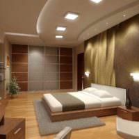 пример яркого проекта дизайна спальни картинка