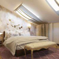 идея яркого оформления дизайна стен в спальне фото