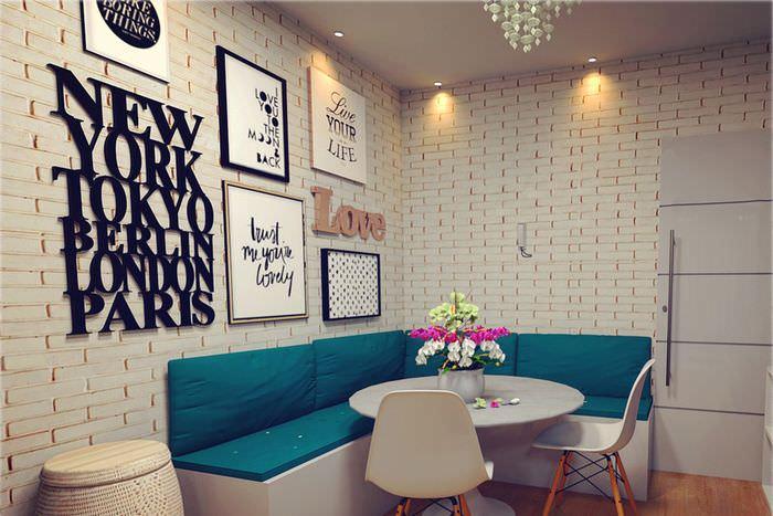 Буквы на стене гостиной из фанеры своими руками