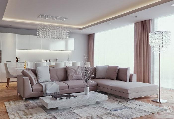 Мягкая мебель в оформлении центра гостиной