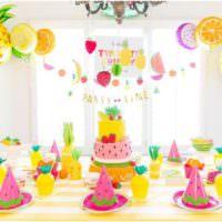 Декорирование детского стола своими руками на день рождения