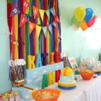Праздничный стол на день рождения девочки