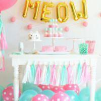 Яркие украшения для дня рождения дочери