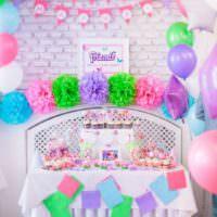 Декорирование детской комнаты на день рождения девочки