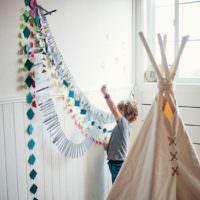 Оформляем комнату вместе с ребенком на его день рождения