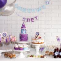 Декор праздничного стола в день рождения мальчика