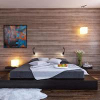 Ламинат в дизайне спальни частного дома