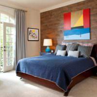 Декоративное оформление стены за изголовьем кровати