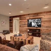 Оттенки коричневого цвета в интерьере гостиного ппомещения