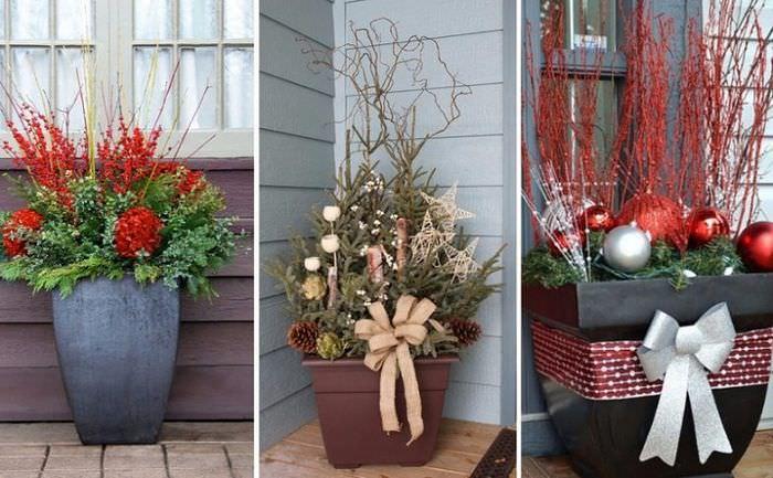 Декор вазонов своими руками к новому году