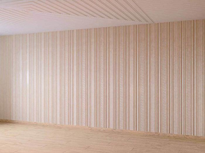 Стена комнаты после облицовки гусварблоками