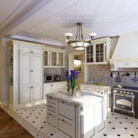 Кухонный остров в стиле классики