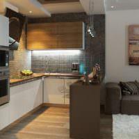 Кухонный фартук из темной мозаики