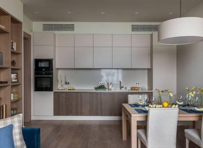 дизайн кухни-гостиной более 10 квадратов