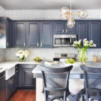 Керамическая плитка в дизайне стен кухни