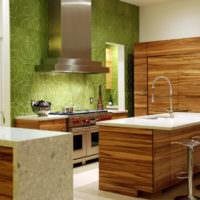 3D обои в дизайне кухонных стен
