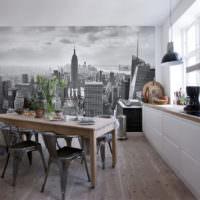 Фотообои в дизайне кухонных стен