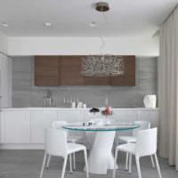 Дизайн стен светлой кухни