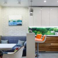 Стеклянный фартук в дизайне кухонных стен