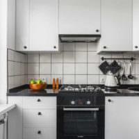 Кафельный фартук в дизайне стен кухни