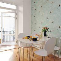 Бумажные обои в дизайне кухонного пространства