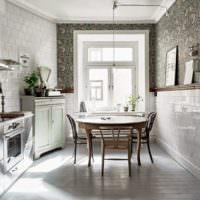 Кафельная плитка в интерьере городской кухни