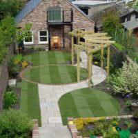 Ландшафтный дизайн узкого загородного участка