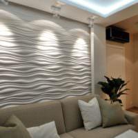 Декор стены над диваном в однокомнатной квартире