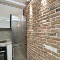 Кухня в стиле лофт в однокомнатной квартире