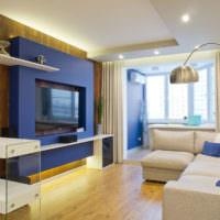Совмещенный балкон в однокомнатной квартире