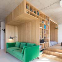 Дизайн однокомнатной квартиры 40 кв м с корпусной мебелью