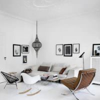 Белый цвет в дизайне однокомнатной квартиры