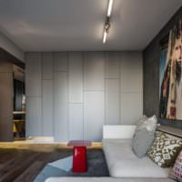 Оттенки серого цвета в интерьере однушки панельного дома