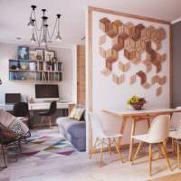 Легкая перегородка в однокомнатной квартире панельного дома