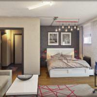Современный дизайн однокомнатной квартиры своими руками