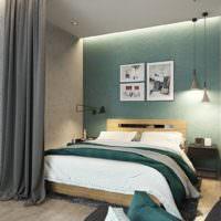 Контрастные стены в дизайне однокомнатной квартиры