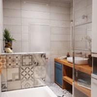 Интерьер совмещенного санузла в однушке кирпичного дома