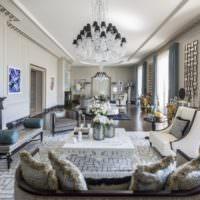 Сочетание серых и синих оттенков в дизайне помещения