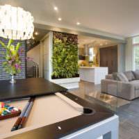 Растения в оформлении интерьера гостиной