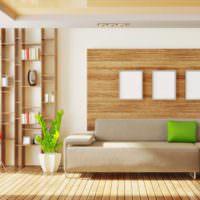 Дизайн комнаты в коричневых оттенках