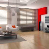 Акценты красного цвета в дизайне помещения