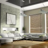 Жалюзи на окнах в дизайне жилого помещения