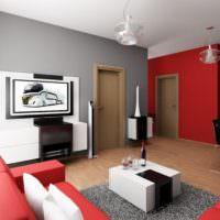 Красный цвет в дизайне интерьера помещения