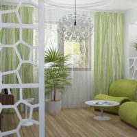 Оттенки зеленого цвета в жилой комнате