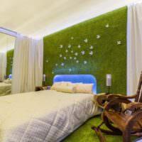 Зеленый цвет в дизайне спальни