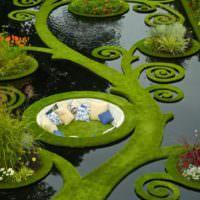 Декоративное оформление искусственного водоема на садовом участке