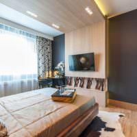 Деревянные панели в дизайне спальной комнаты